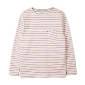 "BURGUS PLUS L/S Basque Shirt ""Natural x Pink"""