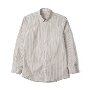 "BANTS FLB Stripe Broadcloth B.D Shirt ""Beige"""