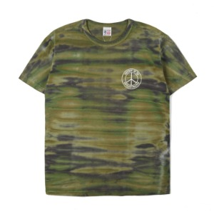 "BUZZ RICKSON'S S/S T-Shirt Tie Dye Camoflage ""Olive"""