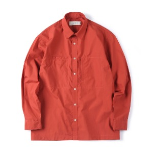 "SHIRTER Over Box Shirt ""Deep Red"""
