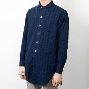 "OOPARTS OPT16SSSH02 Stripe Long Shirts ""Navy"""