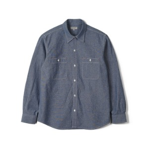 "BANTS FLB Chambray Cotton Work Shirt ""Blue"""