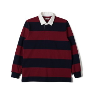 "BANTS FLB Stripe Cotton Rugby T-shirt ""Burgundy x Navy"""
