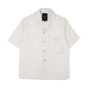 "OOPARTS Simple open-collar Pocket shirts ""White"""
