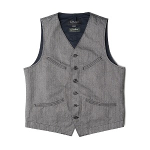 "EASTLOGUE Explorer Vest ""Grey Herringbone"""