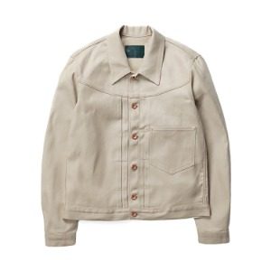 "OOPARTS Oxford Dyed Trucker Jacket ""Beige"""