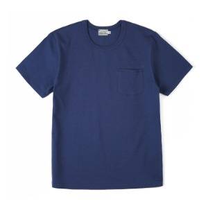 "BURGUS PLUS HBP-001 Organic Cotton Pocket Tee ""Blue"""