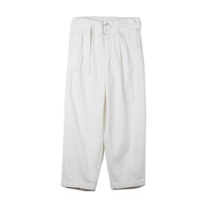 "OOPARTS Two Pleats Denim Pants ""White"""