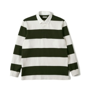 "BANTS FLB Stripe Cotton Rugby T-shirt ""Olive x Off White"""