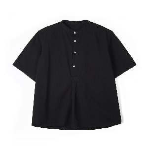 "YMCL KY Bulgarian 50's Grandpa Short Sleeve Shirt  ""Black"""