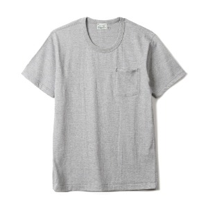 "HBP-001 Organic Cotton Pocket Tee ""Heather Grey"""