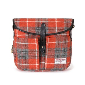 "BRADY BAGS STOUR Fishing Bag Harris Tweed ""Orange"""