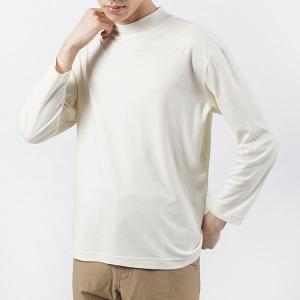 "OOPARTS OPT16SSTS02 Half Neck T-Shirts ""Ivory"""