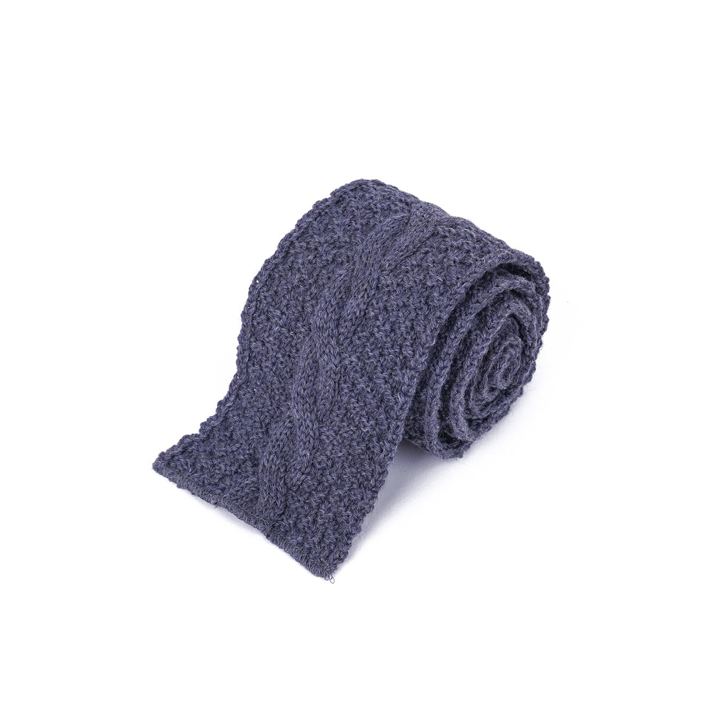 "ENGINEERED GARMENTS Knit Tie  ""Grey Wool Cable Knit"""