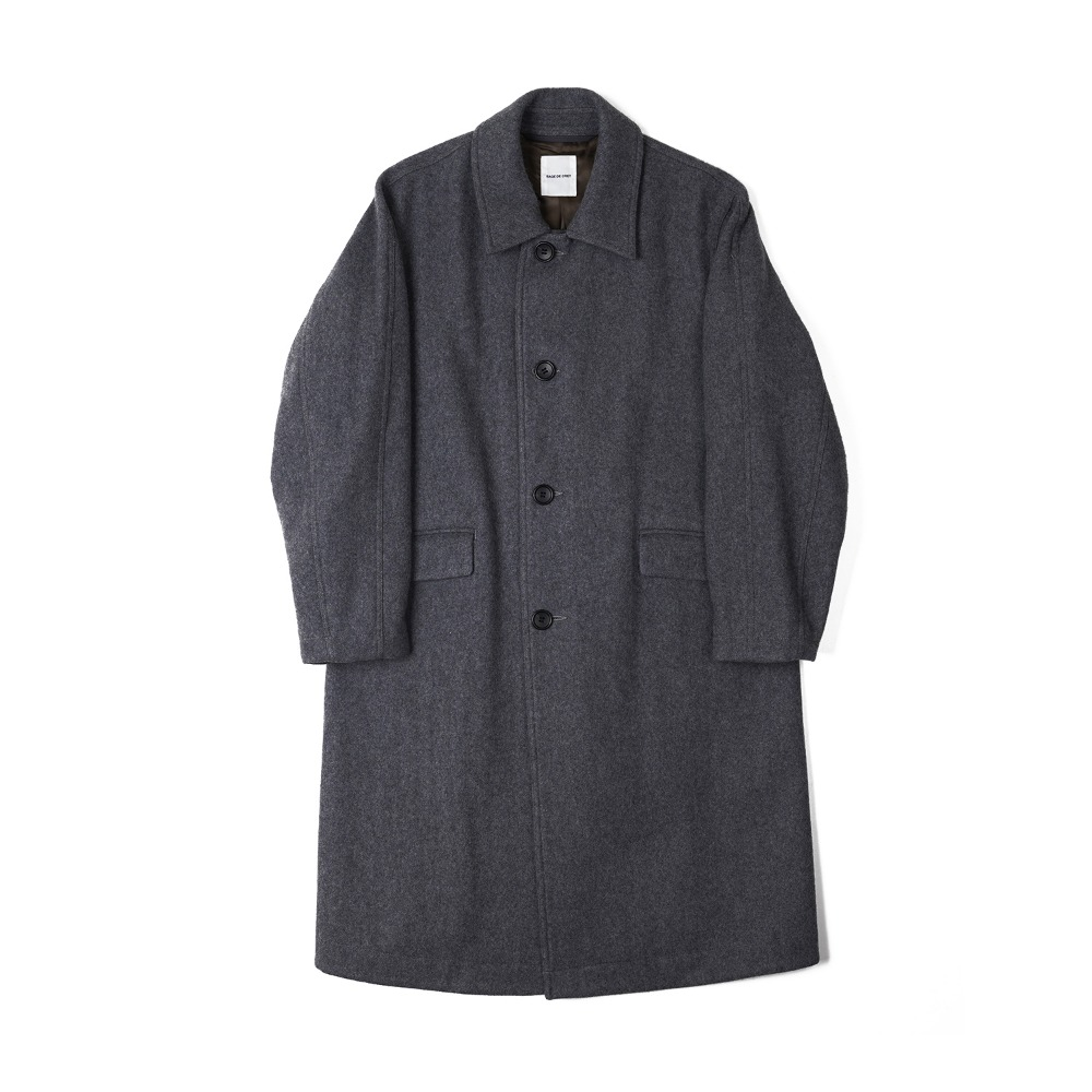 "Sage De Cret Convertible collar long Coat ""M.Grayl"""