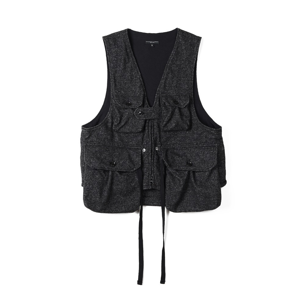 "ENGINEERED GARMENTS Game Vest ""Grey Wool Blend Homespun"""