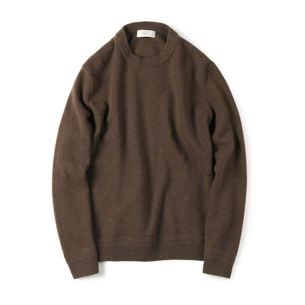 "SHIRTER Tasmania Wool Cachmere Knit ""Brown"""