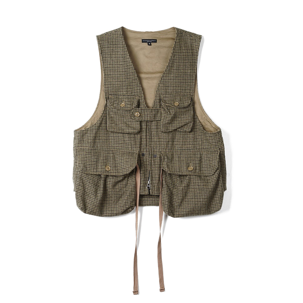 "ENGINEERED GARMENTS Game Vest ""Tan/Green Wool Gunclub Check"""