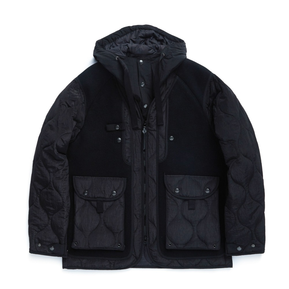 "EASTLOGUE Sherpa Parka ""Black Heavy Melton"""