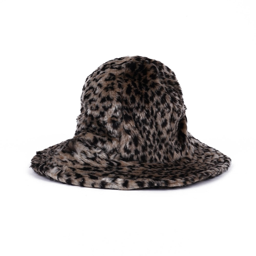 "ENGINEERED GARMENTS Dome Hat ""Brown Acrylic Leopard Fur"""
