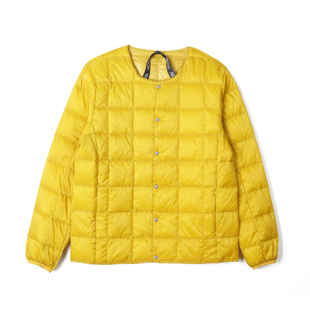 "TAION Crew Neck Button Down Jacket ""D.Yellow"""