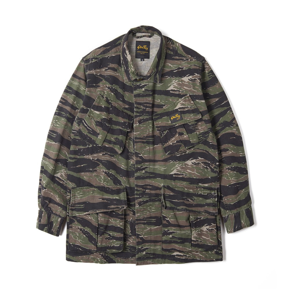 "STAN RAY Tropical Jacket ""Stonewashed Tigerstipe Camo"""