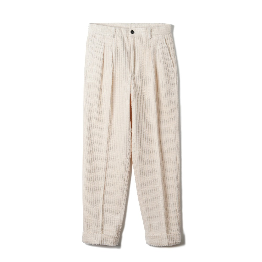 "BANTS OSF Corduroy Two-tuck Pants ""Ivory"""