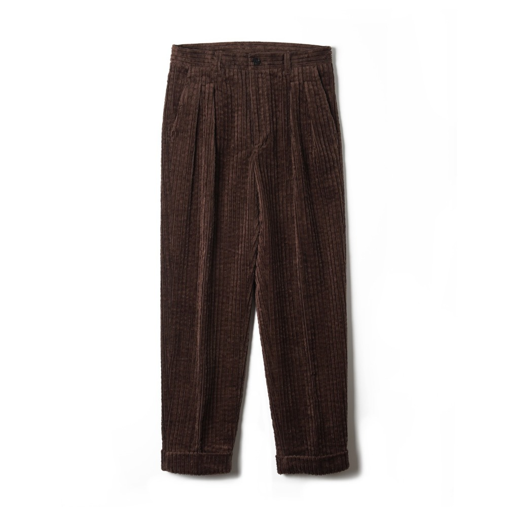"BANTS OSF Corduroy Two-tuck Pants ""Brown"""