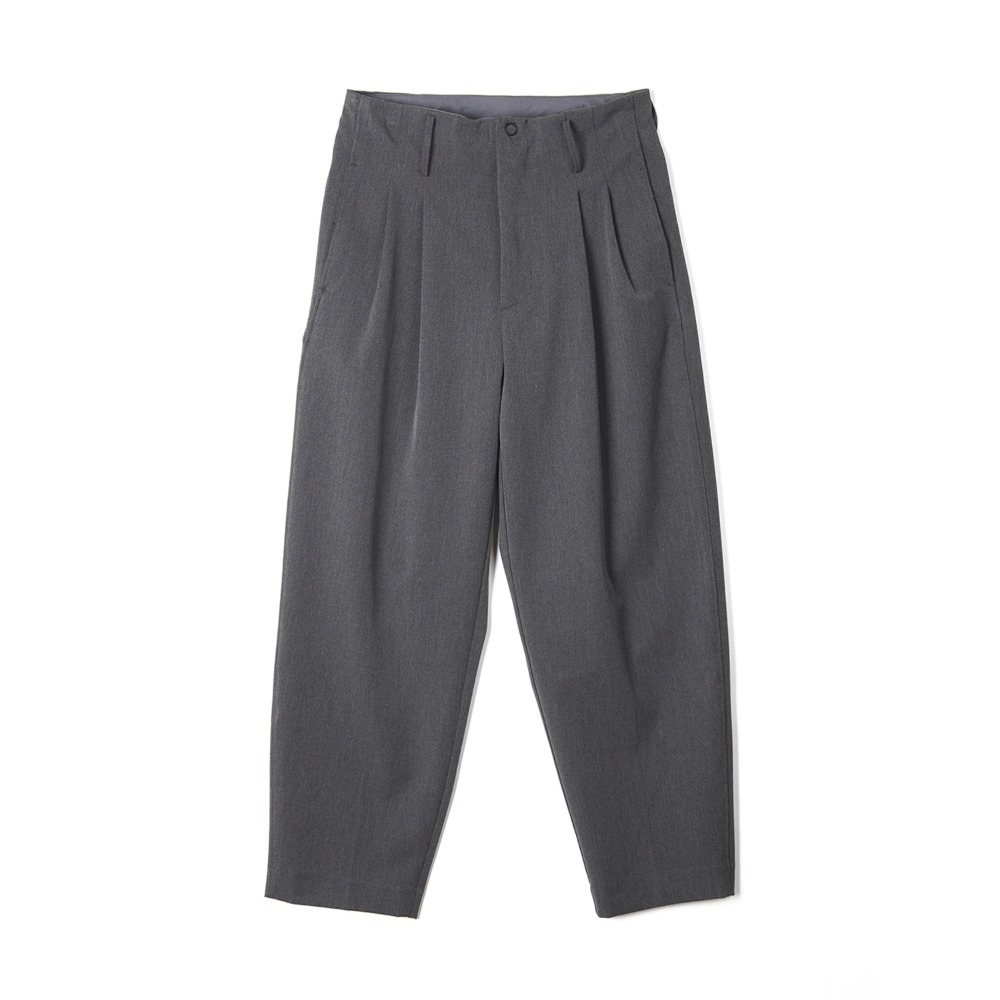 "OOPARTS Two Pleats Carrot-Fit Pants ""Grey"""
