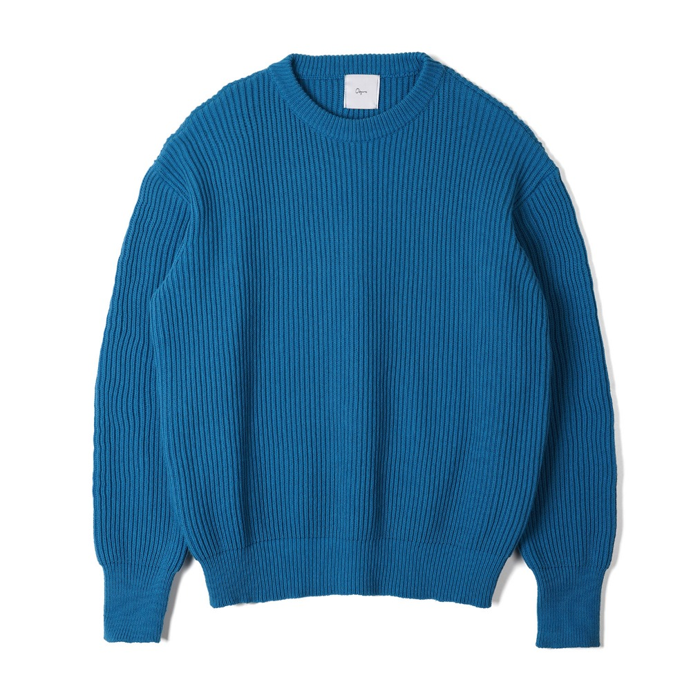 "OOPARTS   Back printing knit ""Blue"""