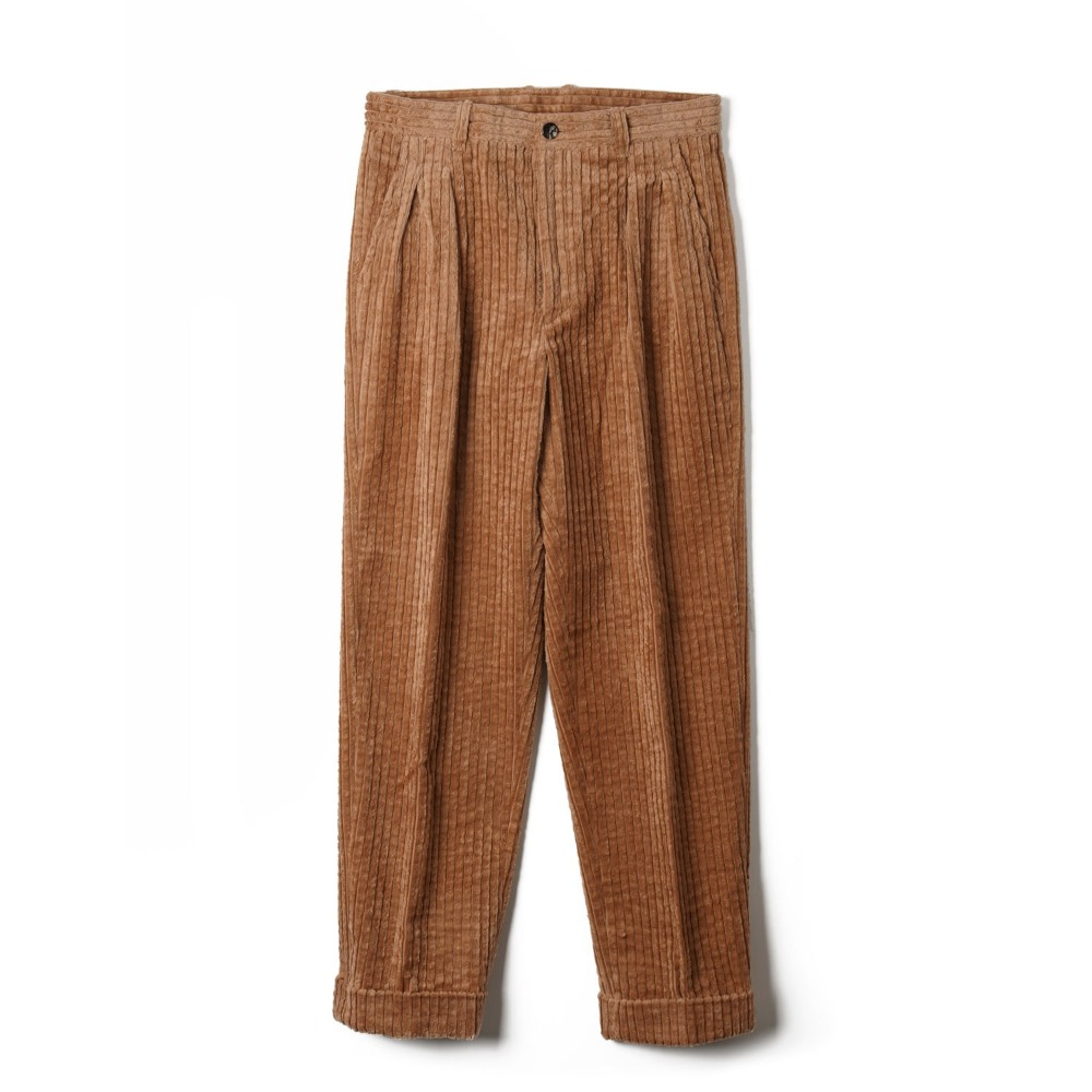 "BANTS OSF Corduroy Two-tuck Pants ""Camel"""