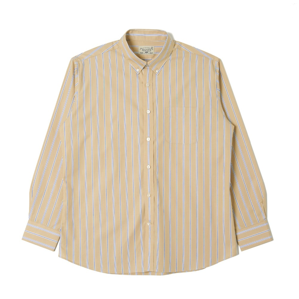 "BANTS OSF Stripe Broadcloth B.D Shirt ""Beige"""