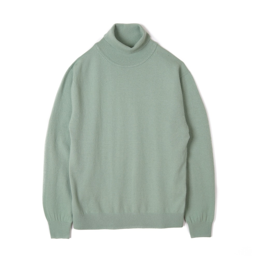 "TRICOTER Cashmere Blend Rollneck Sweater ""Mint"""