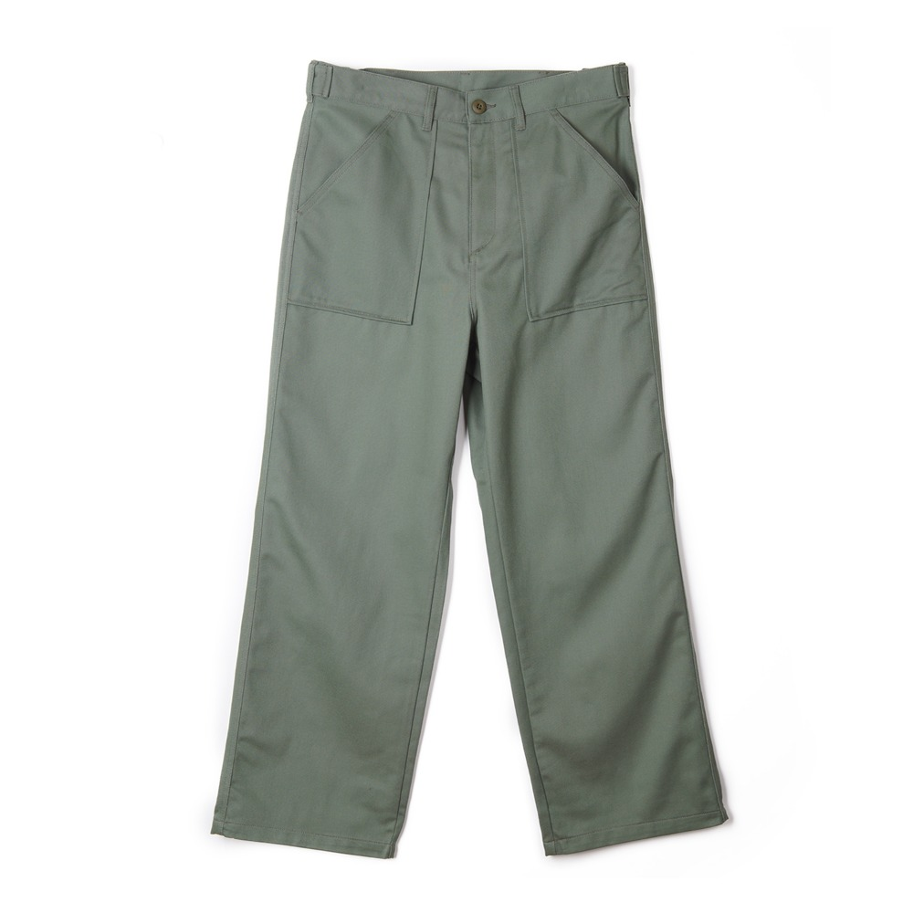 "STAN RAY Wide Leg Fatigue ""Olive Sateen"""