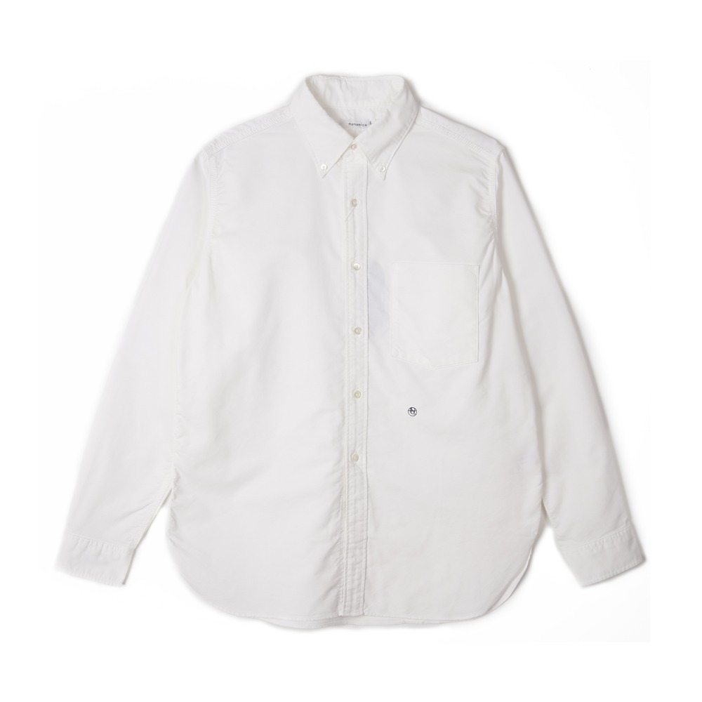 "NANAMICA Button Down Wind Shirt ""White"""
