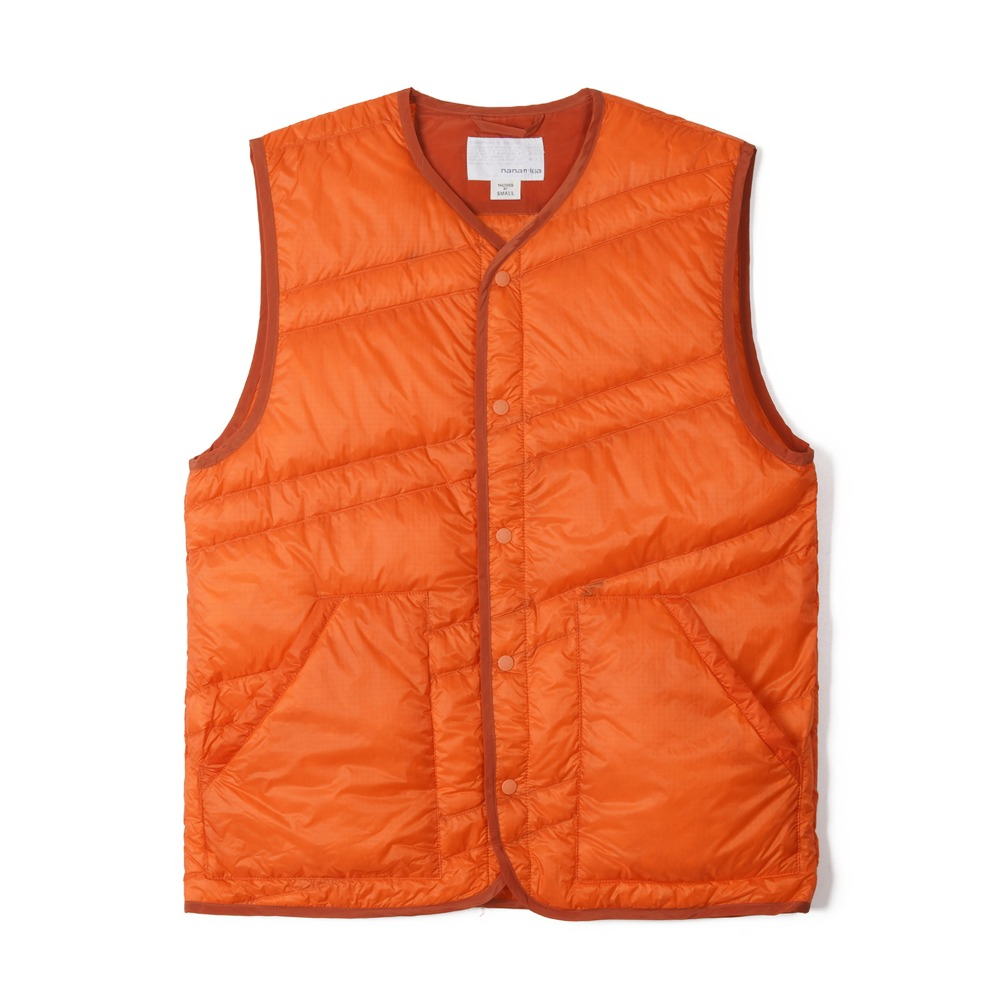 "NANAMICA Down Vest ""Orange"""