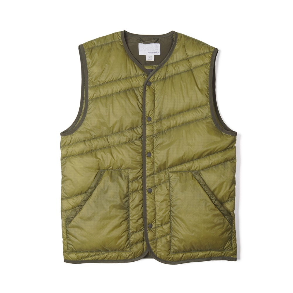"NANAMICA Down Vest ""Light Khaki"""