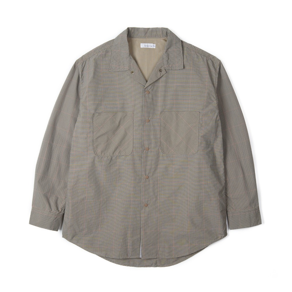 "NANAMICA Open Collar Wind Wind Shirt ""Beige"""