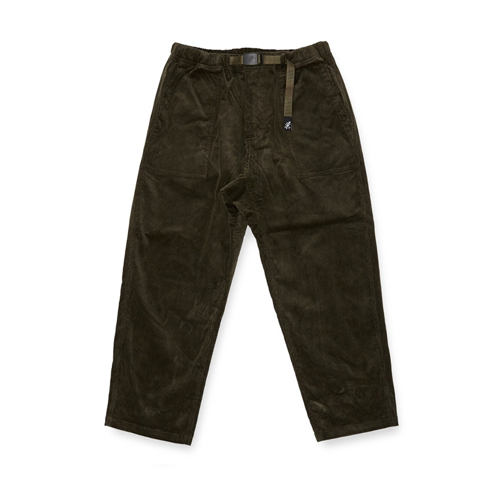 "GRAMICCI Corduroy Loose Tapered Pants ""Olive"""