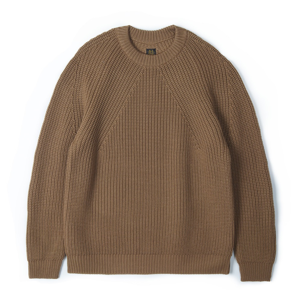 "BATONER Signature Wool Crew Neck Knit ""Camel"""