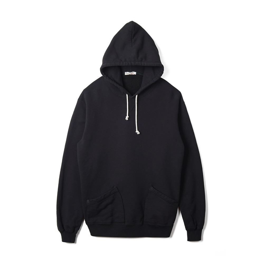 "BURGUS PLUS Over Dyed Hoodie ""Black"""