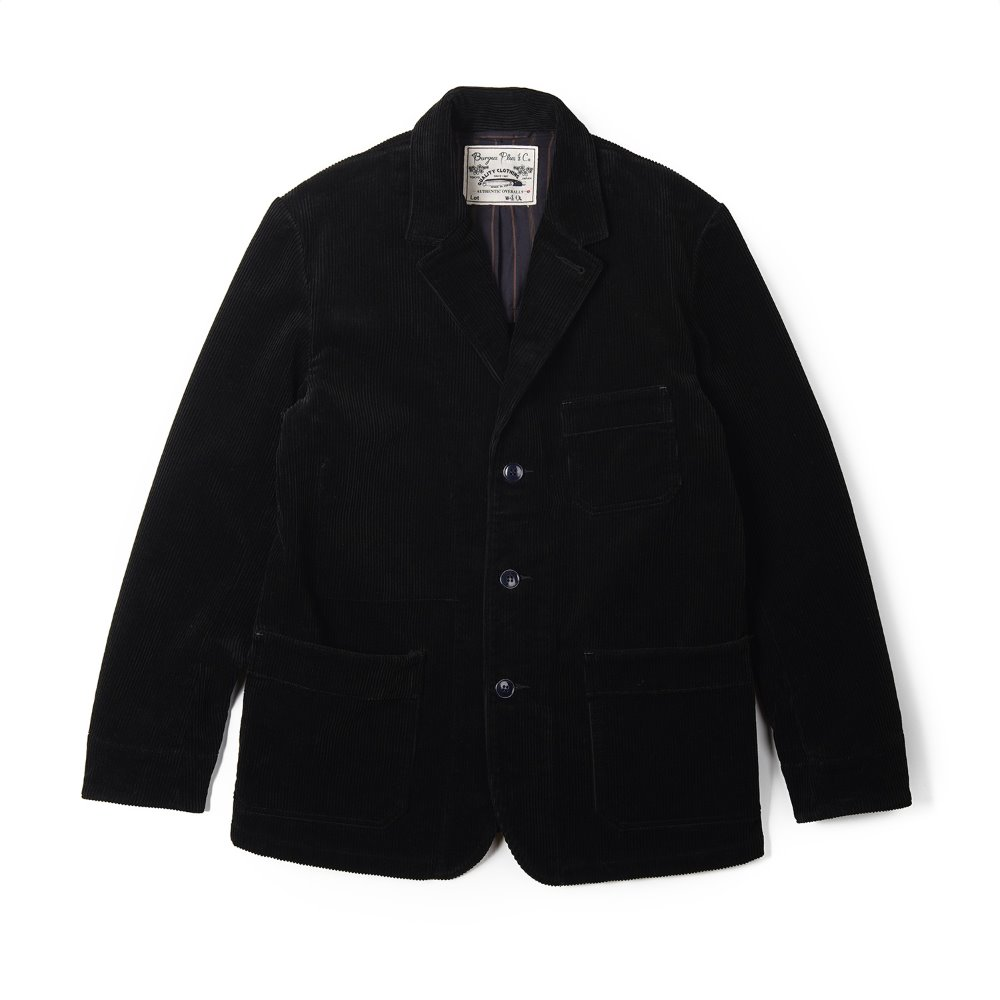 "BURGUS PLUS Wide Wale Corduroy 3 BTN Jacket ""Black"""