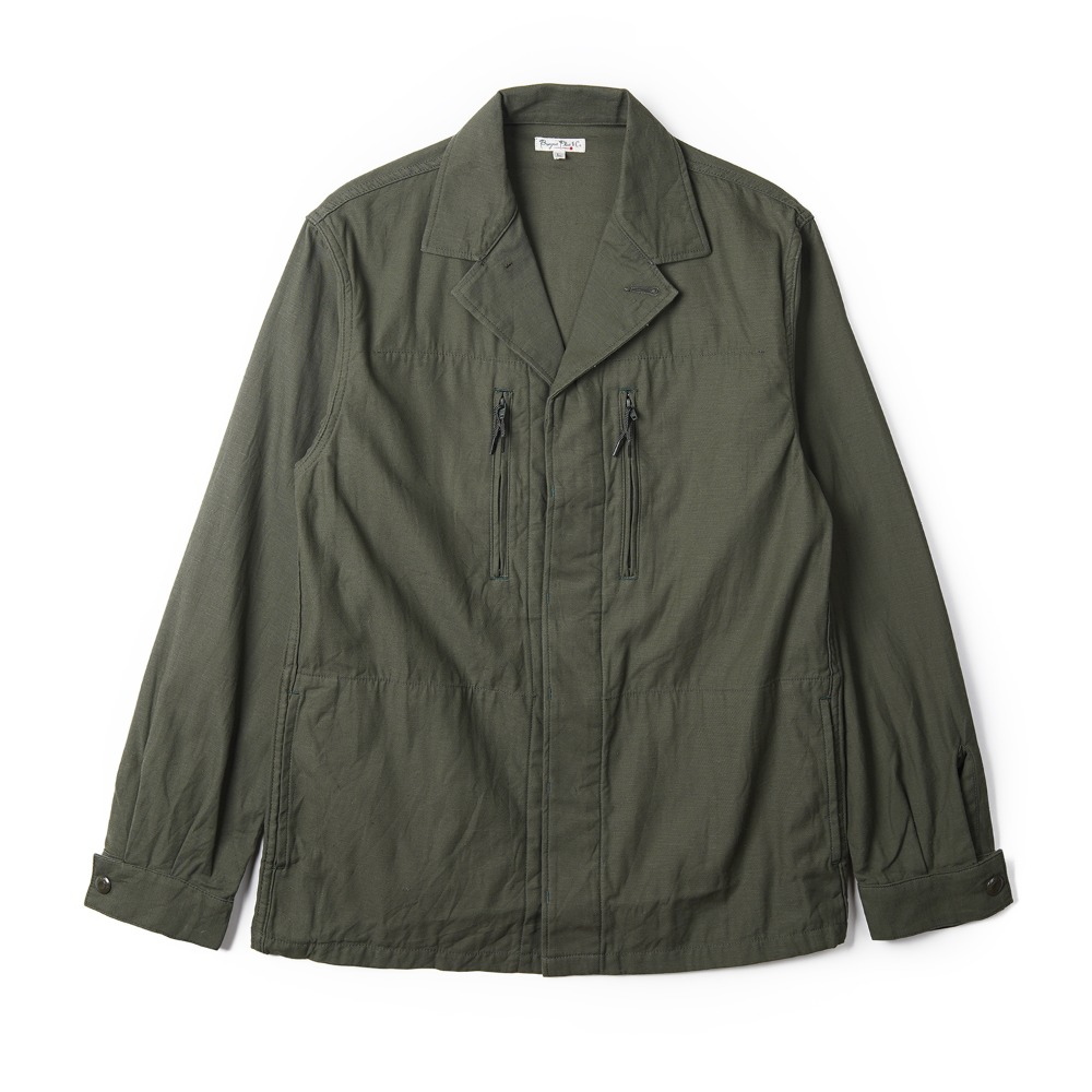 "BURGUS PLUS Military Shirt Jacket ""Olive"""
