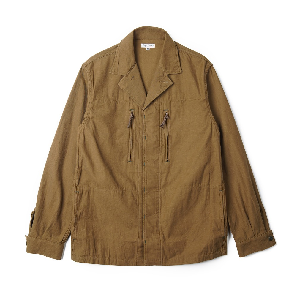 "BURGUS PLUS Military Shirt Jacket ""Khaki"""