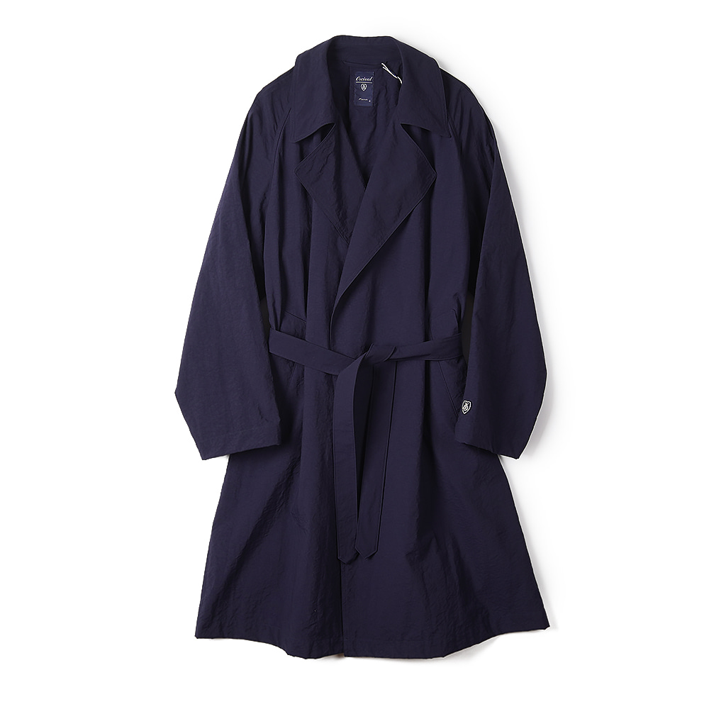 "ORCIVAL Buttonless Chester Coat ""Navy"""