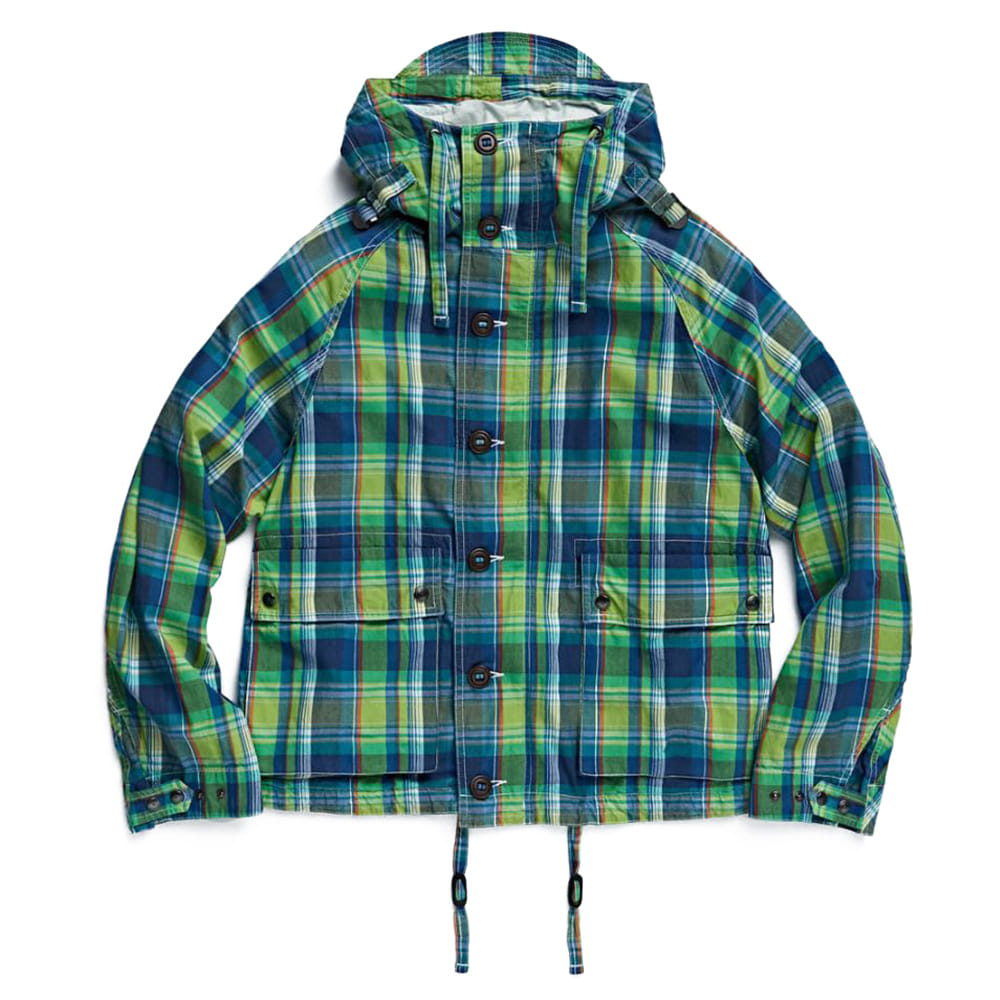 EASTLOGUE Foul Weather Parka / Green Multi Check