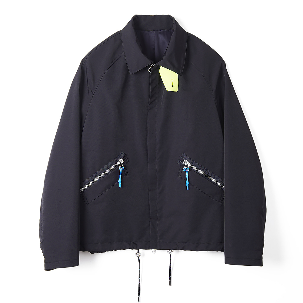 "NAME C/N Hard Finished Cloth Zipped Jacket ""Navy"""