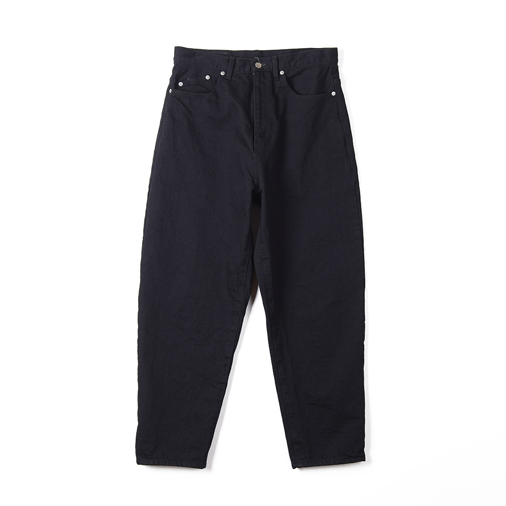 "NAME Wide Tapered Denim Pants ""Black"""