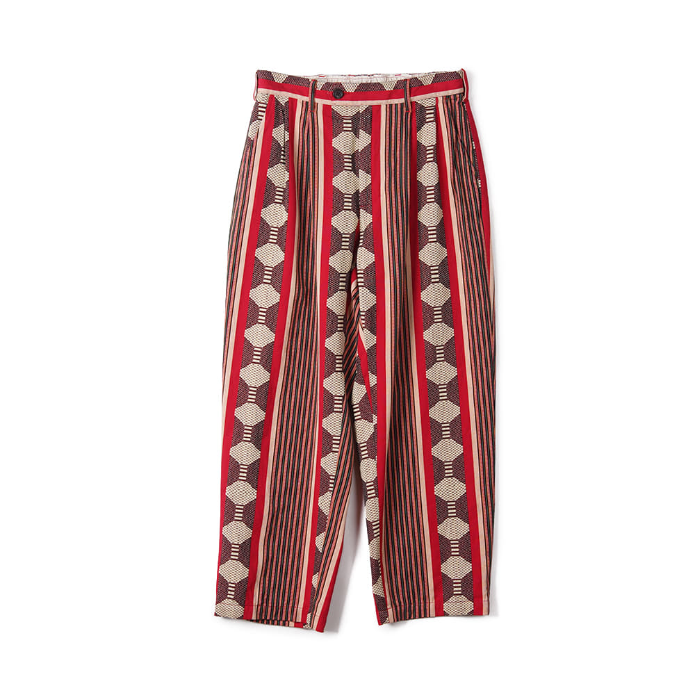 "ENGINEERED GARMENTS Ethnic Jacquard Stripe Emerson Pant ""Red"""