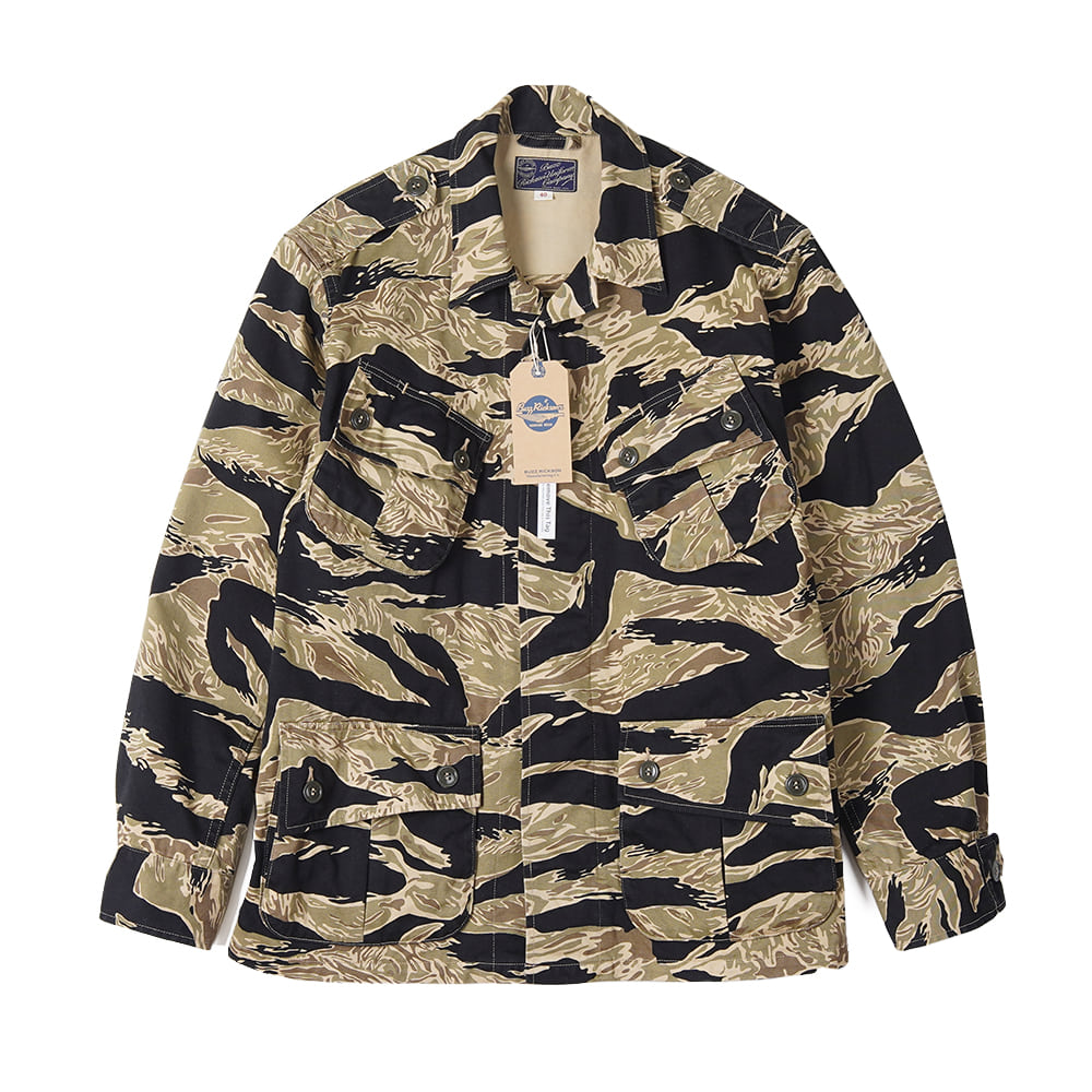 "BUZZ RICKSON'S Gold Tiger Patterns Combat Jacket ""Black"""